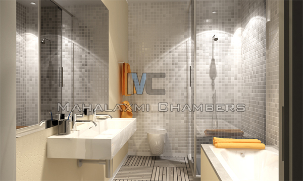 Mahalaxmi chambers interior samples 3d modelling for Bathroom interior design services